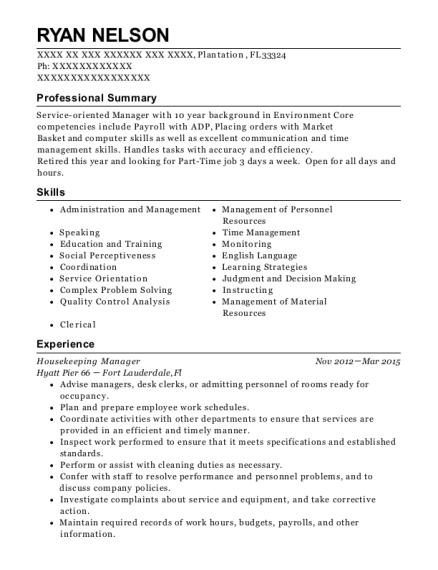 best housekeeping coordinator resumes resumehelp