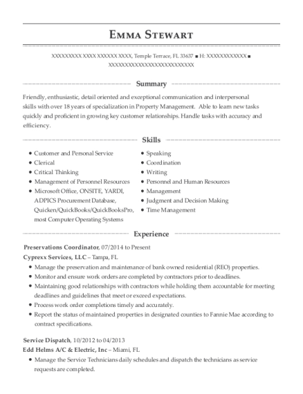 Mid American Energy Company Service Dispatch Resume Sample - Sioux ...