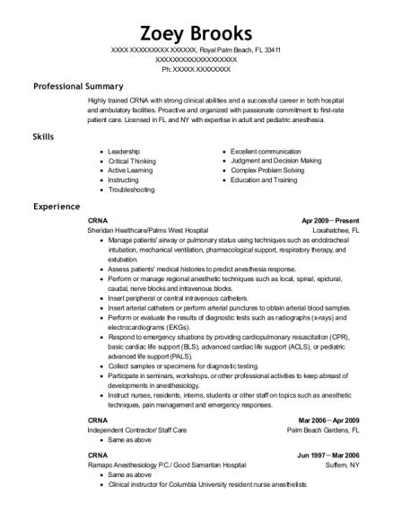 Best Crna Resumes ResumeHelp