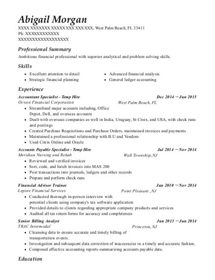 Best Financial Advisor Trainee Resumes | ResumeHelp