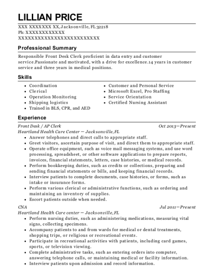 Key Energy Services Ap Clerk Resume Sample - Pearland Texas | ResumeHelp