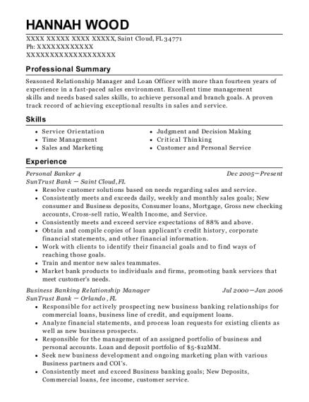Best Business Banking Relationship Manager Resumes Resumehelp