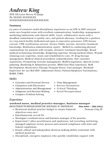 best medical practice manager resumes resumehelp