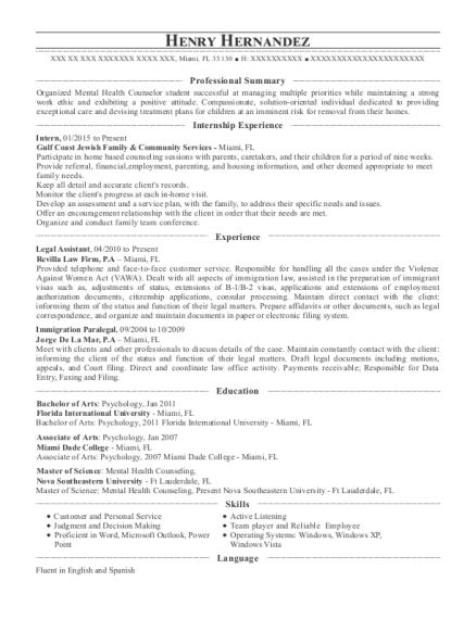 diaspora law immigration paralegal resume sample