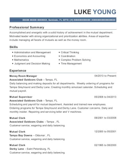 Best Mutuel Clerk Resumes | ResumeHelp