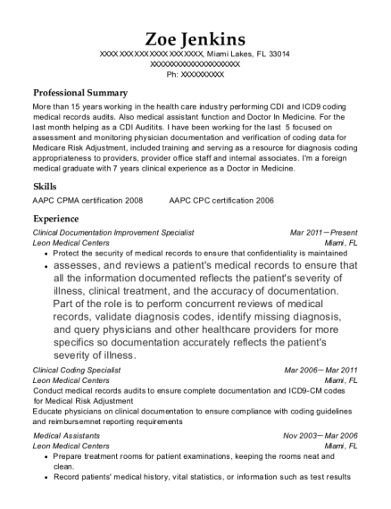 Best Clinical Coding Specialist Resumes | ResumeHelp