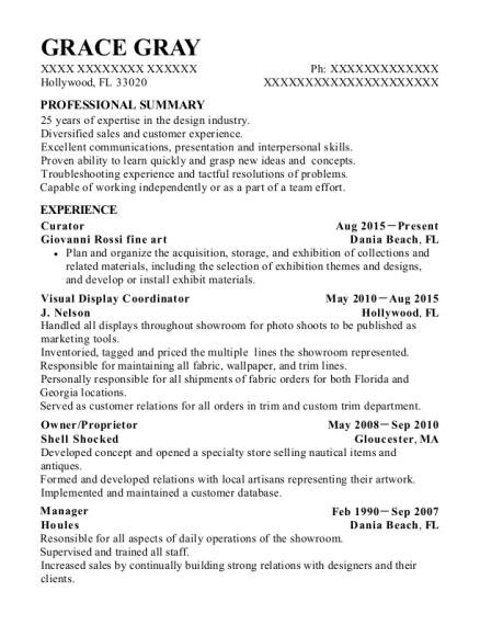 best visual display coordinator resumes resumehelp