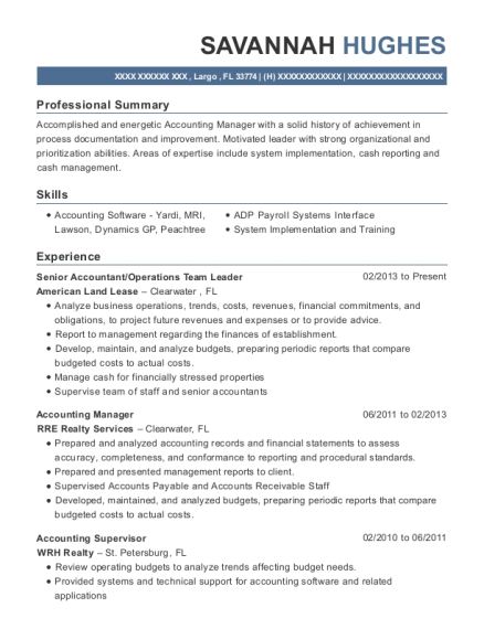 Best Director Of Administration/accounting Resumes | ResumeHelp