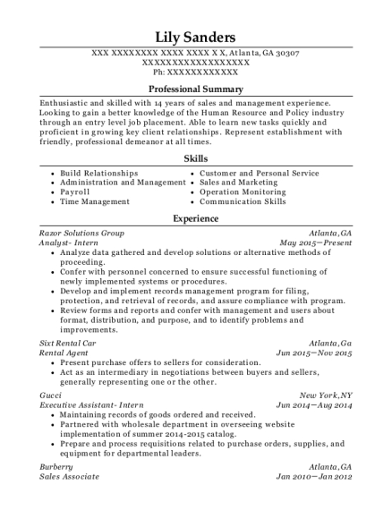 aflac insurance agent resume sample