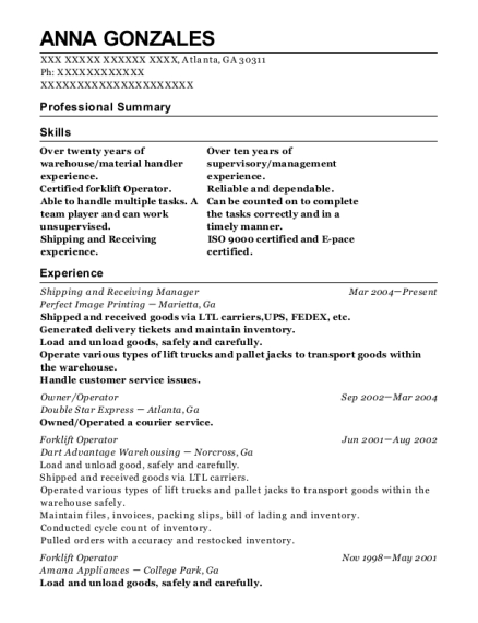 Shipping And Receiving Manager Building Services Customize Resume View