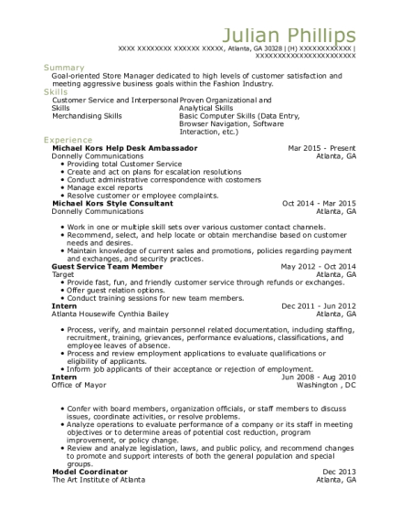 View Resume  Guest Services Resume