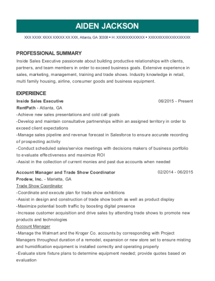 Best Account Manager And Trade Show Coordinator Resumes | ResumeHelp