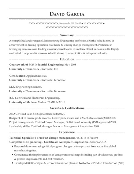 Completions Engineering Gulfstream Aerospace Corporation Technical ...