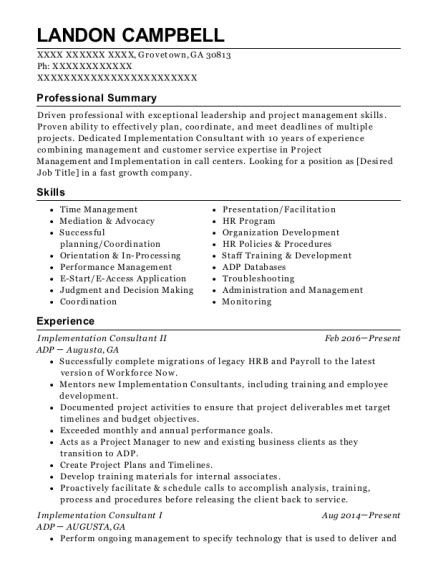 allscripts implementation consultant resume sample