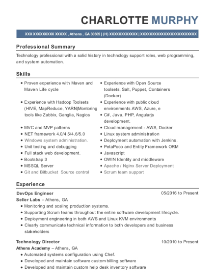 view resume - Devops Engineer Resume
