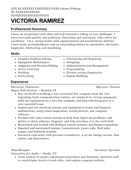 The Body Shop Shop Manager Resume Sample - Las Vegas Nevada | ResumeHelp