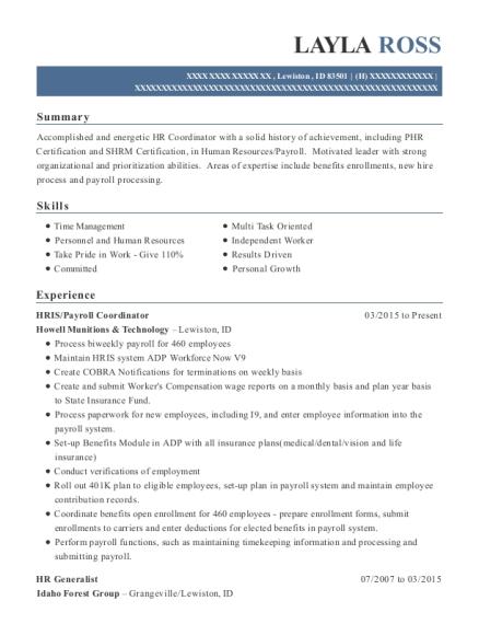 Best Bookkeeping,payroll,and Hris Resumes | ResumeHelp