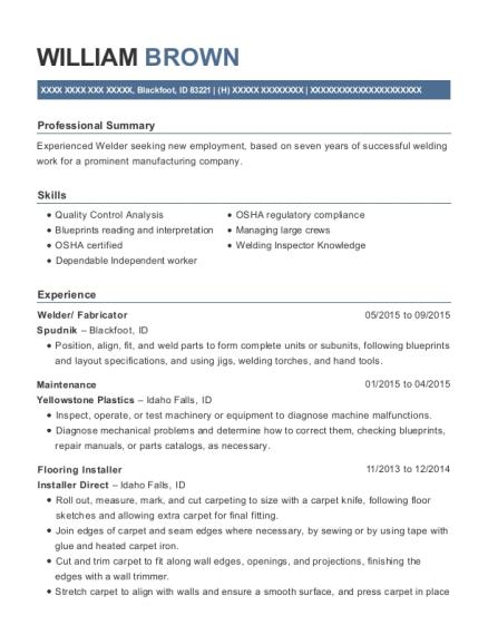 welding inspector resume