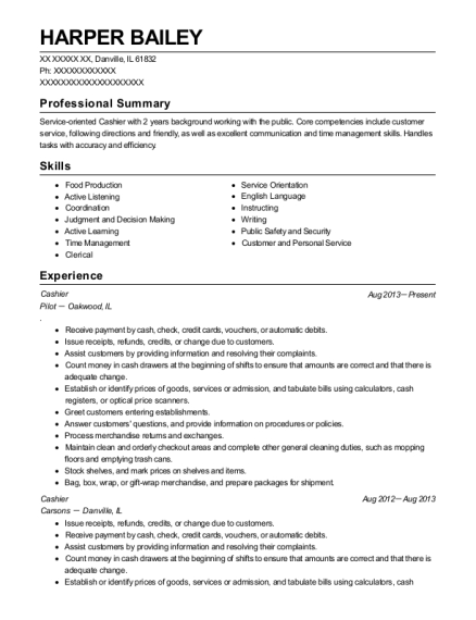 Harper Bailey  Child Care Provider Resume