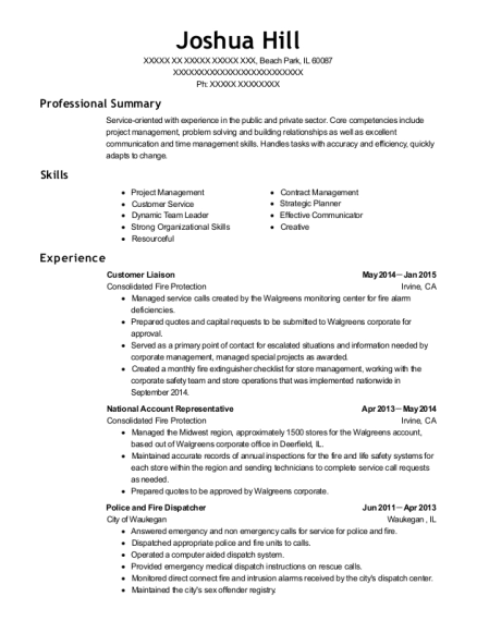 joshua hill - Account Representative Resume