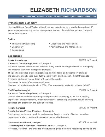 best psychotherapist resumes resumehelp