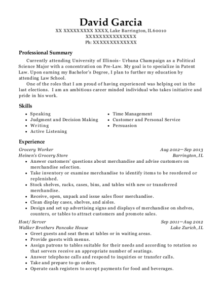 view resume - Resume Political Science Degree