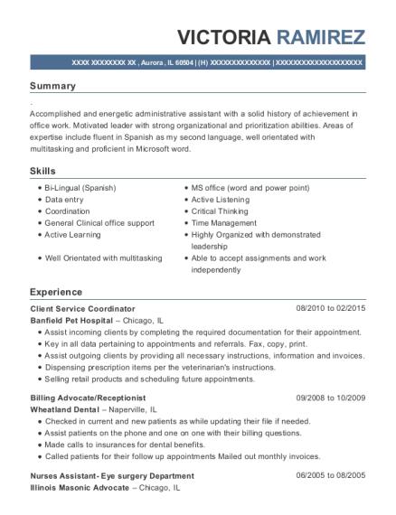 best client service coordinator resumes resumehelp