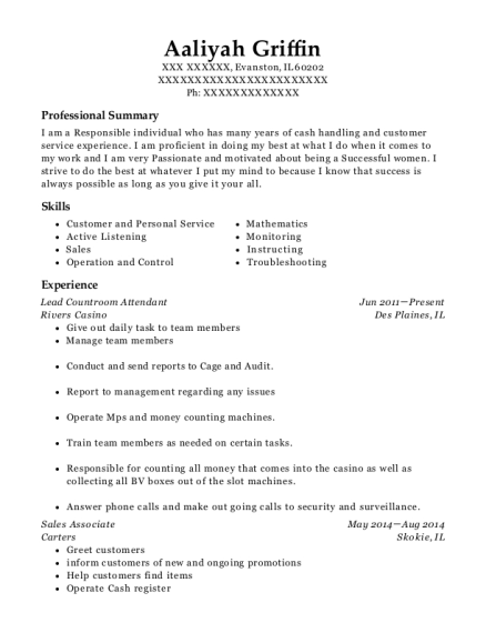 broadway multiplex cinema box office cashier resume sample