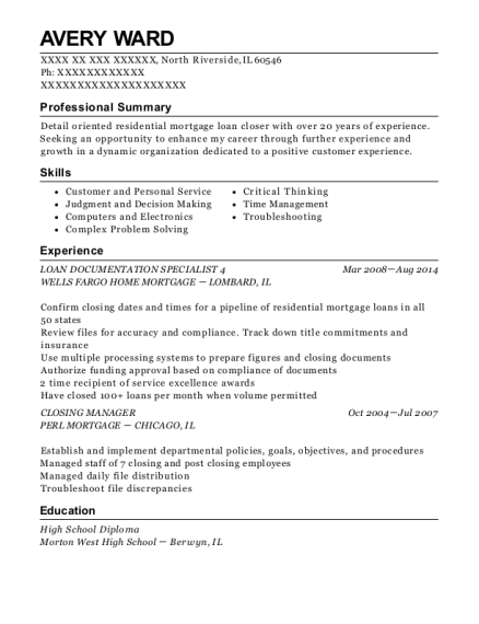Avery Ward  Resume Help Chicago