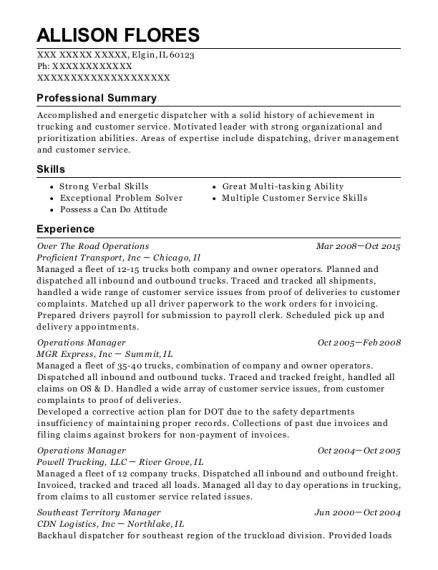 Best Assistant City Dispatcher Resumes | ResumeHelp