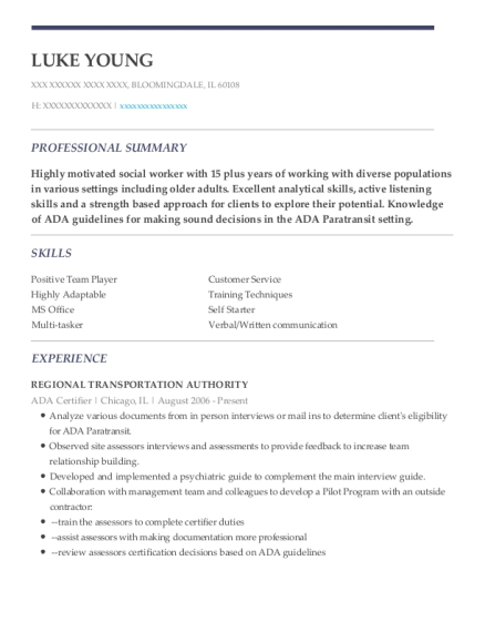 Regional transportation authority ada certifier resume sample luke young companies worked for regional transportation authority sciox Images