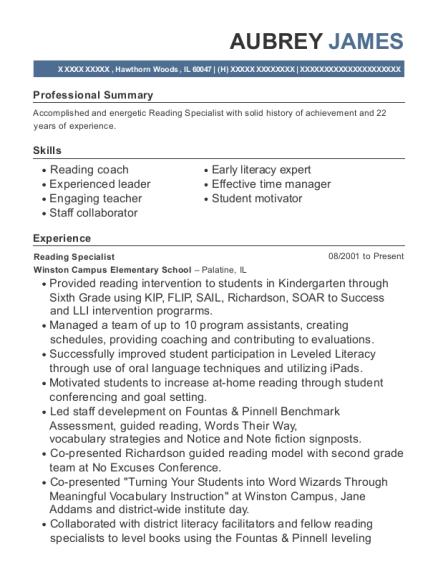 Reading Teacher Resume Samples Professional User Manual Ebooks