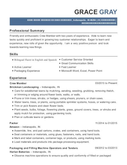 resume indianapolis