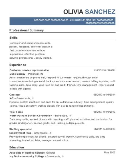 chevron extra mile customer service representative resume sample
