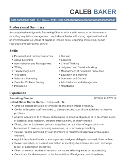 American Wilderness Campground Opertions Manager Resume Sample ...