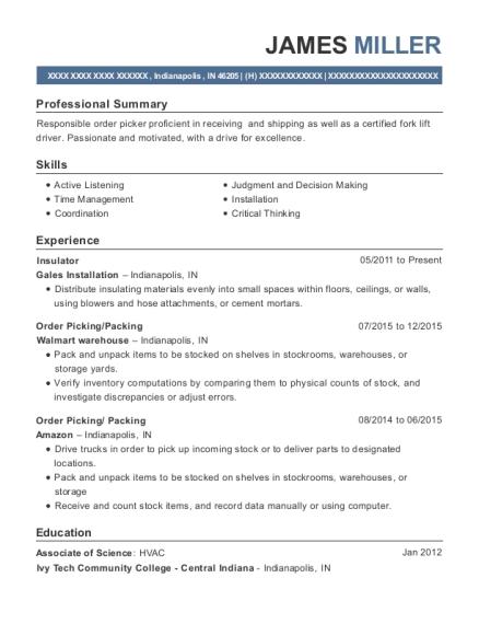 picking and packing resume owen cover cv order picker resume