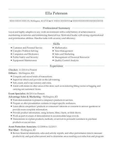 walmart dc 6042 asset protection associate resume sample pauls