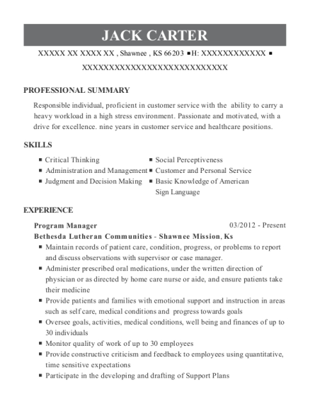 Best Lead Direct Support Professional Resumes ResumeHelp