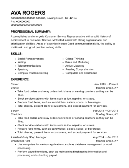 Best Assistant Body Shop Manager Resumes | ResumeHelp