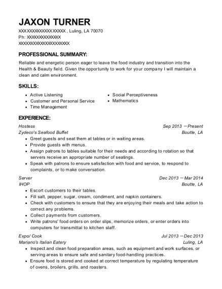 Sonic Carhop Resume Sample Arlington Texas Resumehelp