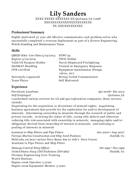 eiche petroleum landman resume sample cana virginia resumehelp