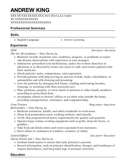 Best Dsw Resumes | ResumeHelp