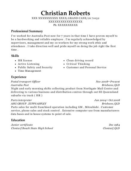 View Resume  Parts Of A Resume