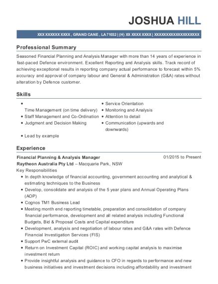 Best Financial Planning & Analysis Manager Resumes | ResumeHelp