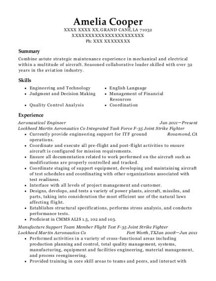 aeronautical engineering resumes - Akba.greenw.co