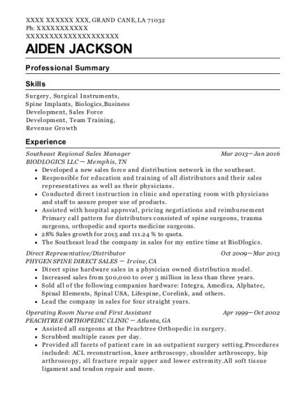 pacu rn resume
