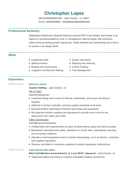 Best Concrete Patcher Resumes | ResumeHelp