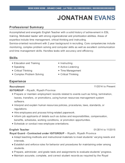 Best Recruitment Specialist Resumes | ResumeHelp