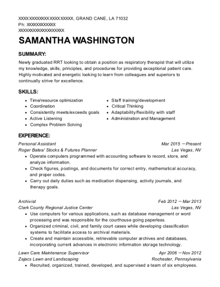 Samantha Washington  Maintenance Supervisor Resume Sample