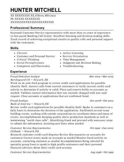 Lovely People Also Search For. Customize Resume · View Resume. Fraud Detection  Analyst